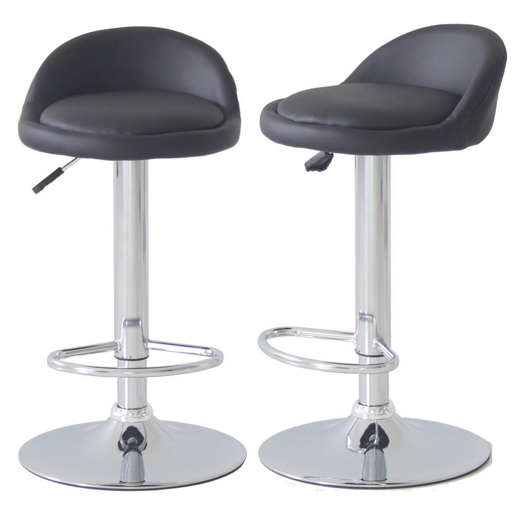 베스트렉 A122 발걸이형 홈바의자 아일랜드 식탁의자 높은의자, 블랙
