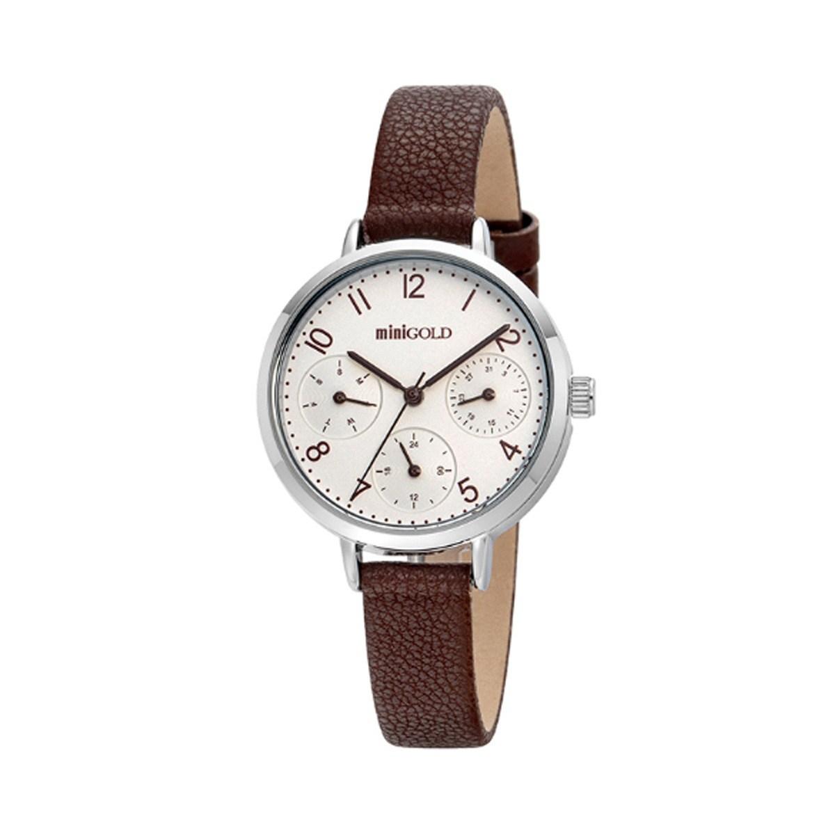미니골드 클래식라인 브라운 시계 W220LWBR