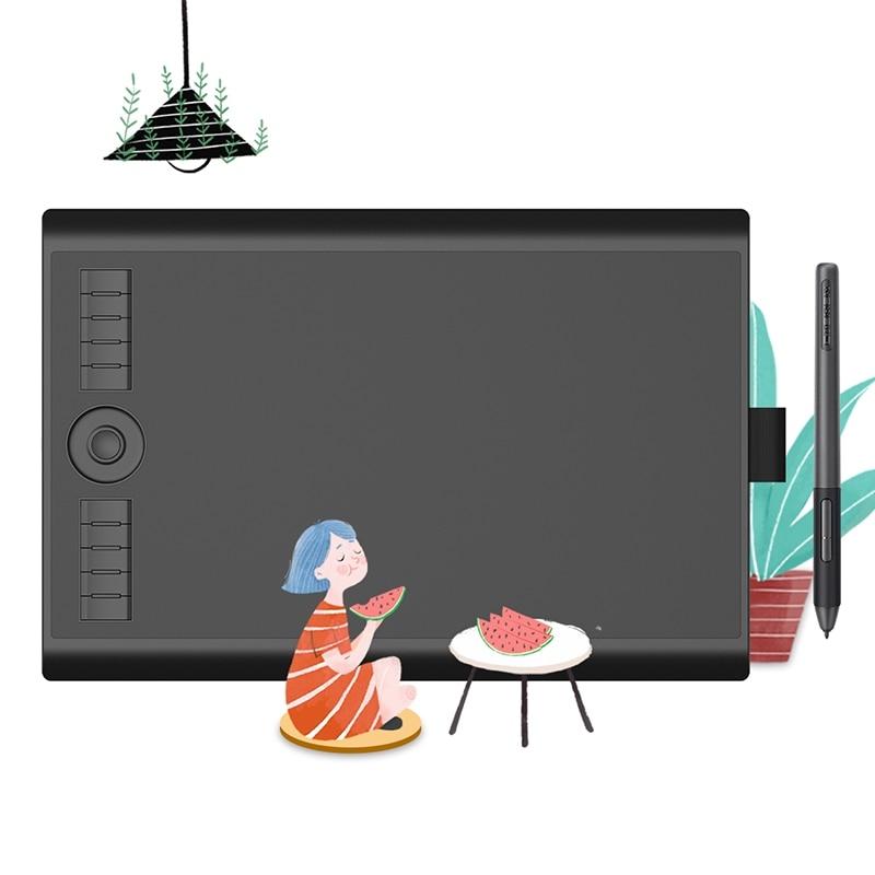 판타블렛 GAOMON M10K PRO 106.25 그래픽 펜 태블릿 드로잉 태블릿 26, 협동사, 검은 색