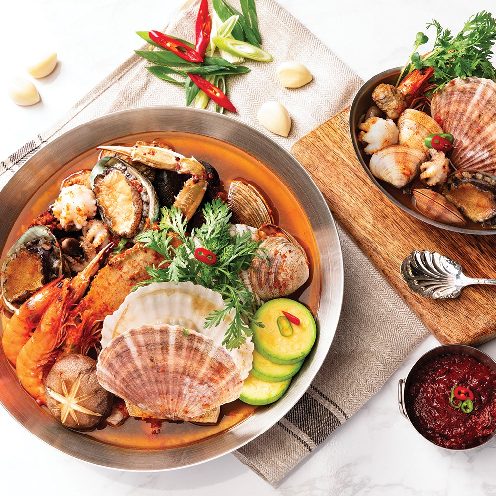 간편요리 해물탕 세트 (손질해물+야채+양념장) 3-4인분, 순한맛