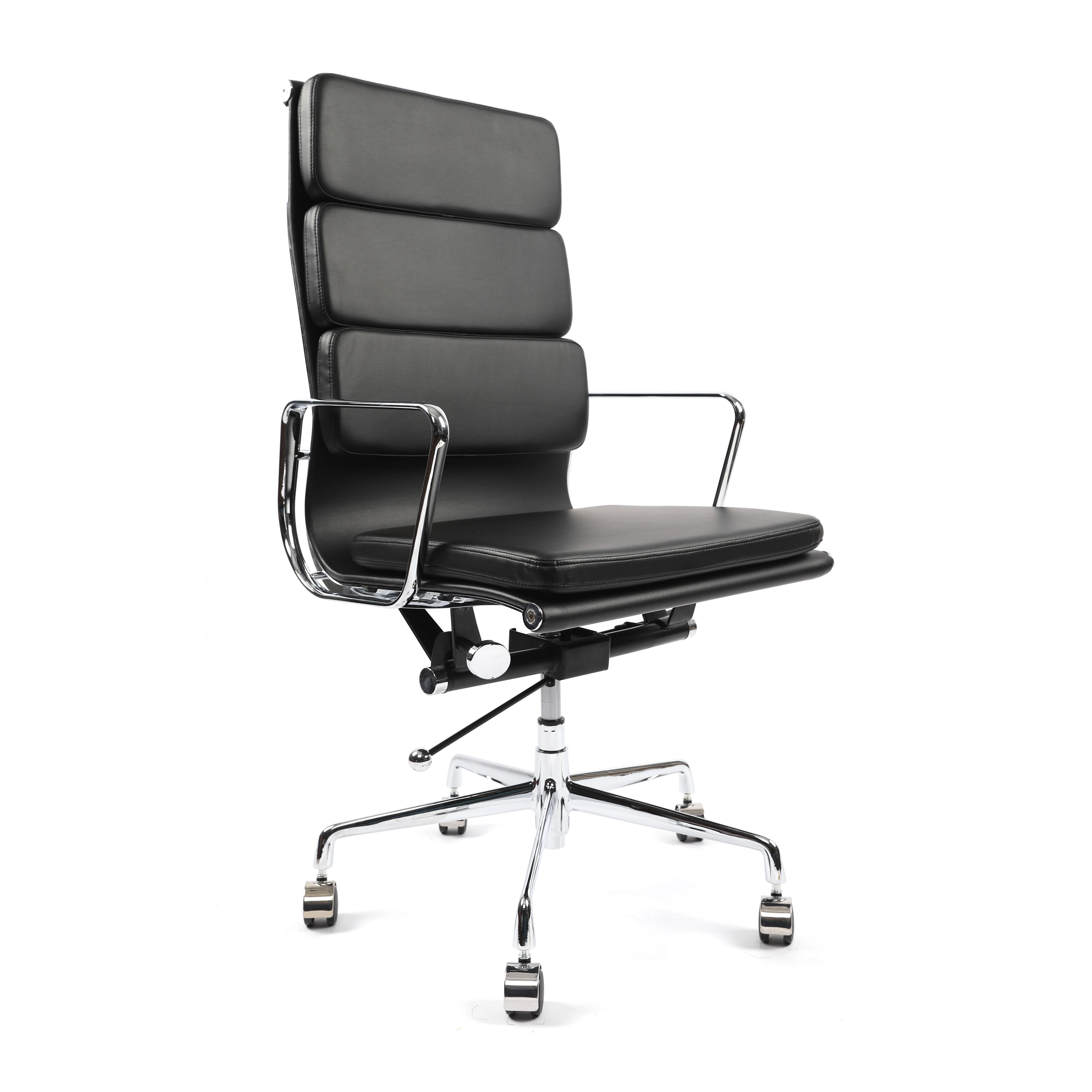 휘게체어 허먼밀러 임스체어 명품 가죽 오피스 디자이너 디자인 의자 사무용의자, 천연소가죽 - 블랙
