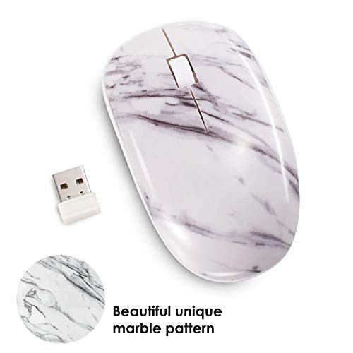 무선마우스 Insten Marble 2.4G Wireless Mouse with Nano USB Receiver Portable Mobile Optical Cordless Mice for Laptop Notebook Desktop PC Computer MacB, 본문참고