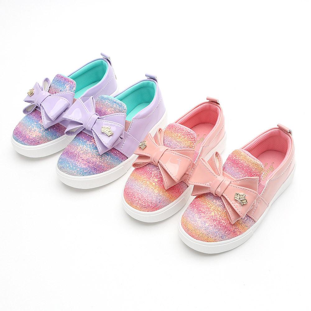 매직 레인보우 170-220 유아 아동 키즈 여아용 봄 가을 슬립온 운동화 단화 신발