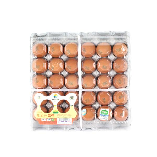 KB farm 친환경 무항생제 계란 특란30구, 30구