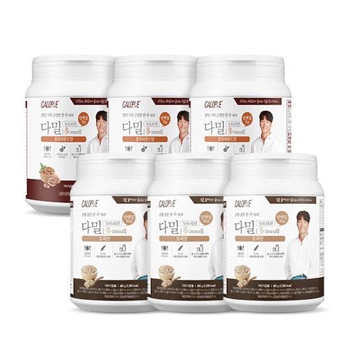 칼로바이 다밀 대용량 3+3 단백질쉐이크 식사대용 파우더 + 프로틴바 요거트맛 10개입 증정 쉐이커증정, 560g, 6개