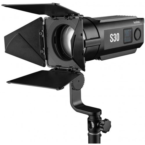 GodoxS30 스포트라이트 LED 촬영용라이트 CRI&TLCI(96+) 휘도조정가능정확조광 3종충전방식 영화비디오 만들기/TV생방송/, 단일상품