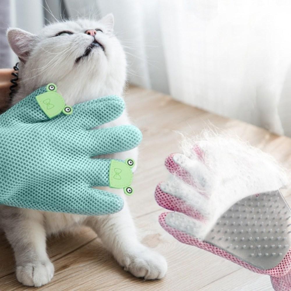 멍멍군나비양 고양이 강아지털정리 힐링브러쉬 브러쉬, 1개, 핑크