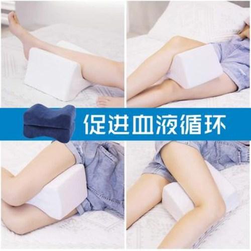 빼기 마사지 발 올리고 다리베개 꼬부랑발매트 부 측와 방정맥 의료용 베개 자면서, 01 네이비 공기층 접이식 발베개 (POP 5466674986)