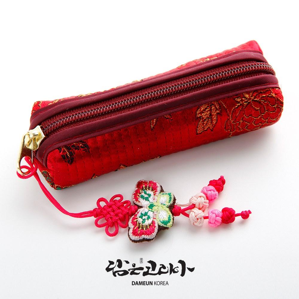 담은코리아 도장집 인감도장집 도장케이스 통장지갑 홍보판촉물, 누비도장집-빨강색