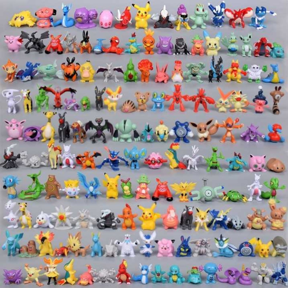 포켓몬스터 손으로 만든 장난감 입상 피카츄 장신구 풀 세트 144, [포켓몬 24 개] 매직 카드 16 장 무료 + 한 사이즈개