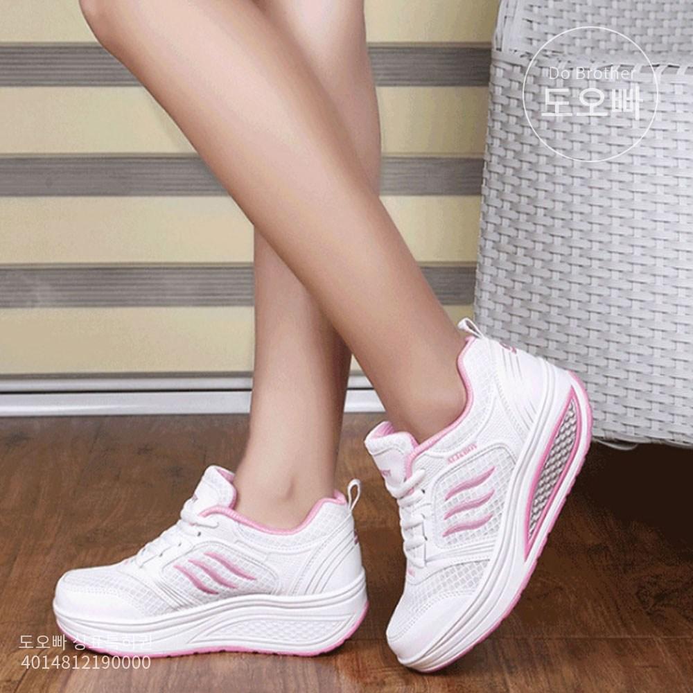 도오빠 여성 키높이 운동화 5cm 스니커즈 런닝화 워킹화 패션 여자 어글리슈즈 스포츠 신발