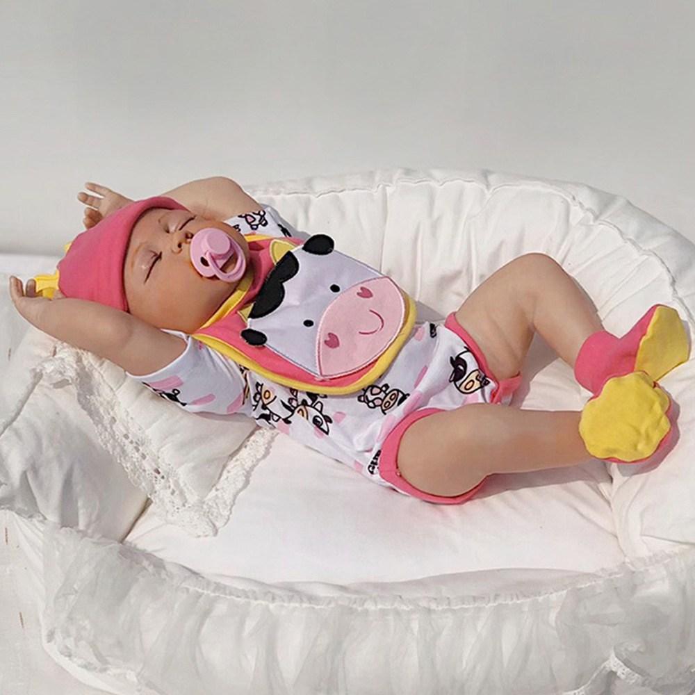 [당배]퍼스트패밀리 리본돌 베이비돌 베렝구어 애착인형 reborndoll 아기인형 57cm