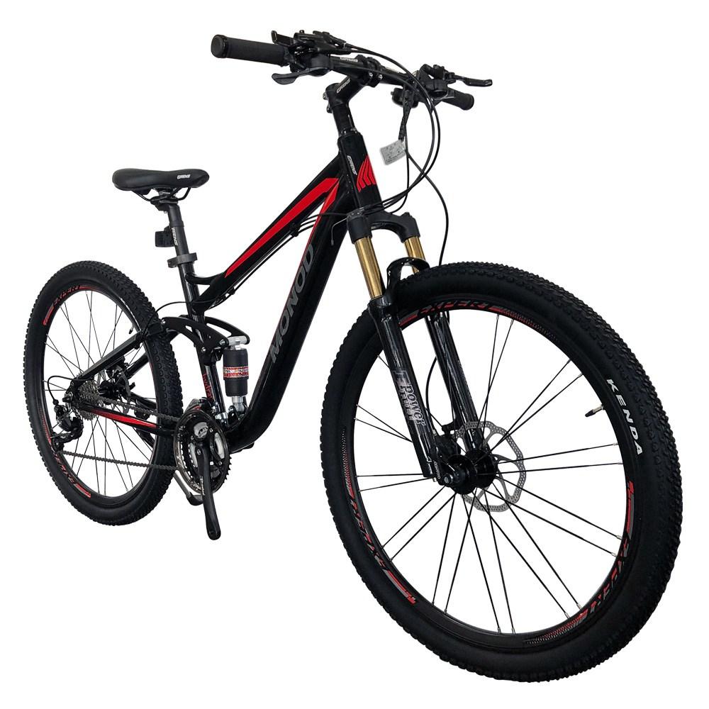 지멘스 모노27.5 풀샥MTB 시마노아세라원터치 유압식브레이크 알루미늄 MTB 자전거, 185cm, 모노27.5(블랙/레드)유압식_미조립박스