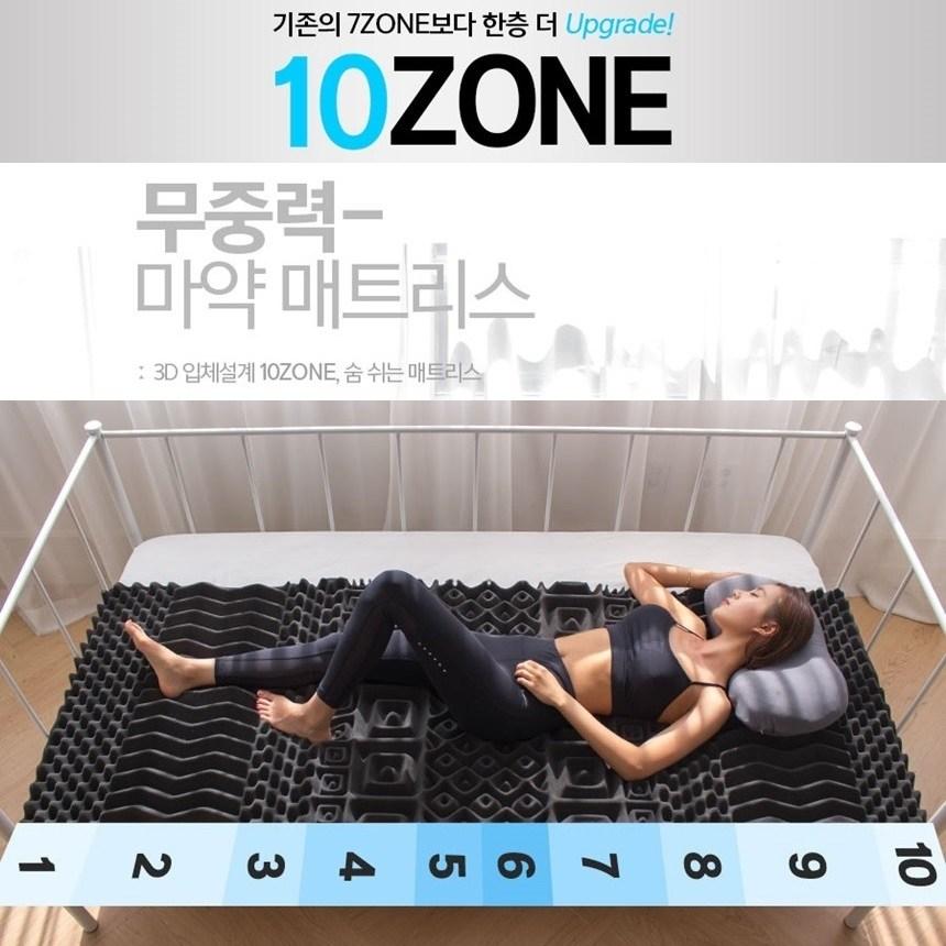 무중력 허리에좋은 잠이편한 푹잠 매트리스 기절 떡실신 자취 바닥, 7cm