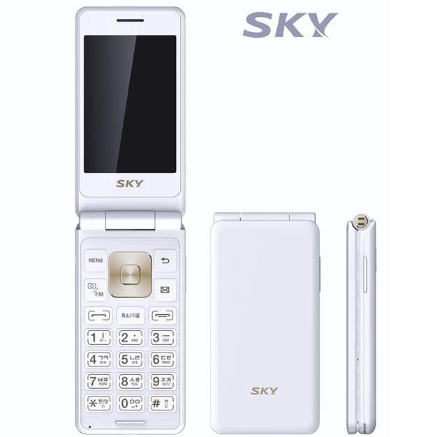 SK KT용 IM-F100 스카이폴더폰 가개통 새제품 공기계 공신폰, 화이트