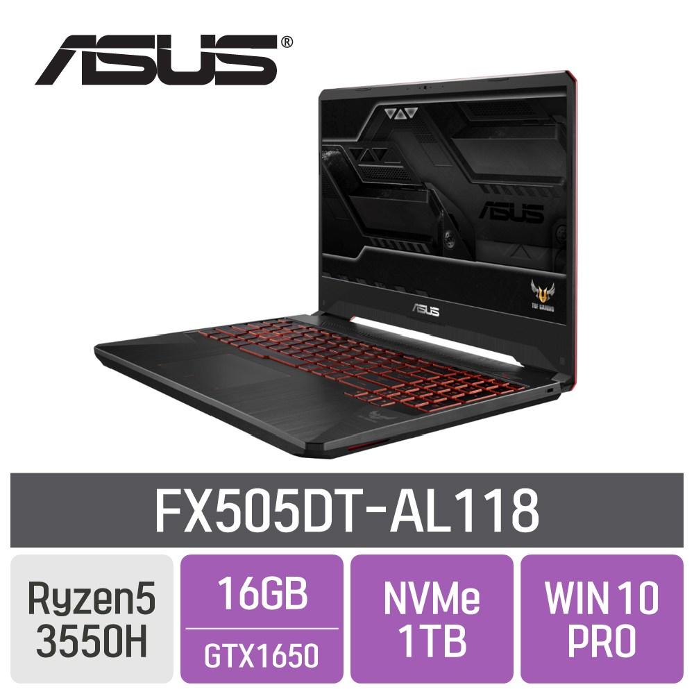 ASUS TUF FX505DT-AL118 [9월 25일 입고예정], 16GB, SSD 1TB, 포함