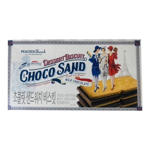 피코크 초콜릿 샌드 위치 135g 초코 산도, 1개