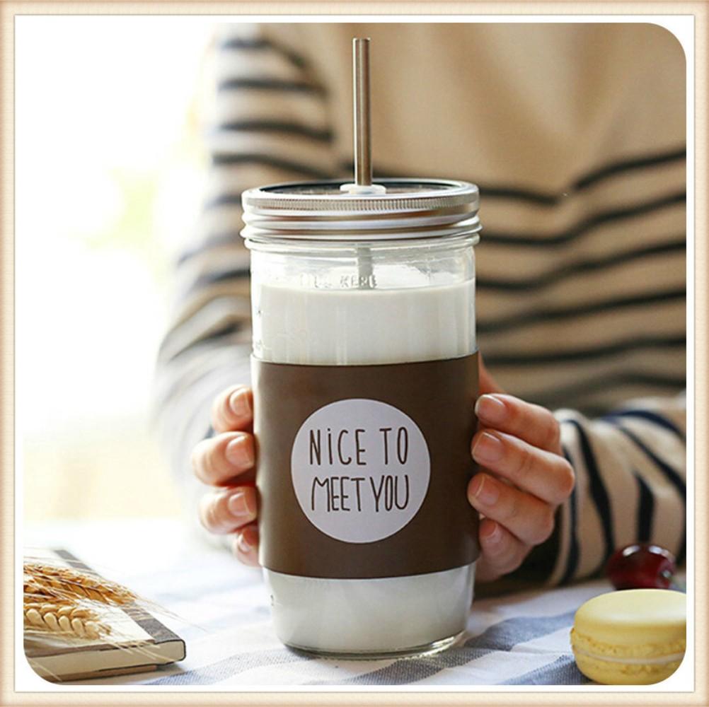 커피스틱 한국 아이디어 성인 빨대컵 대용량 유리컵 덮개포함 수탉 따뜻한음료수 커피포트, 스케일 700ml의 다크 브라운