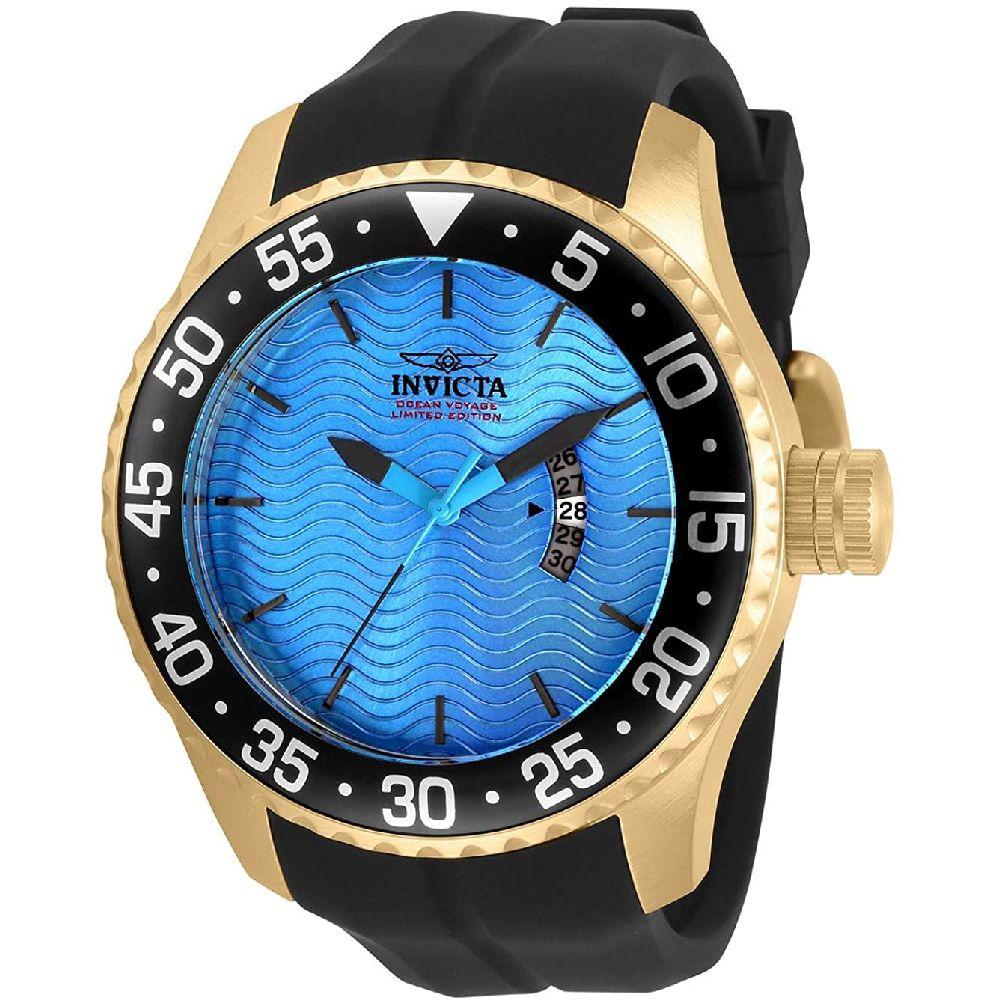 Invicta 프로 다이버 쿼츠 블루 인빅타 남자 시계 32659 다이얼