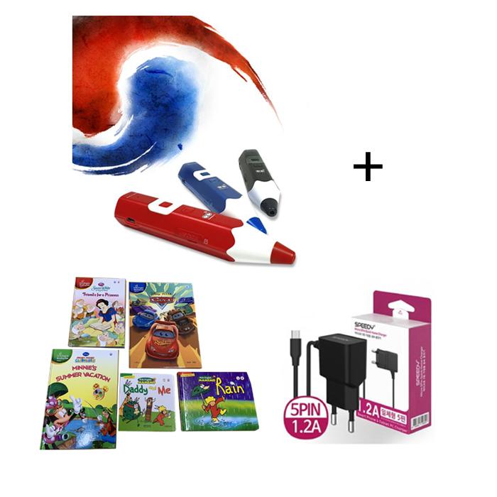 세이펜 레인보우 B 세이펜(태극펜) 64G+영어동화책 5권+충전기, 블랙