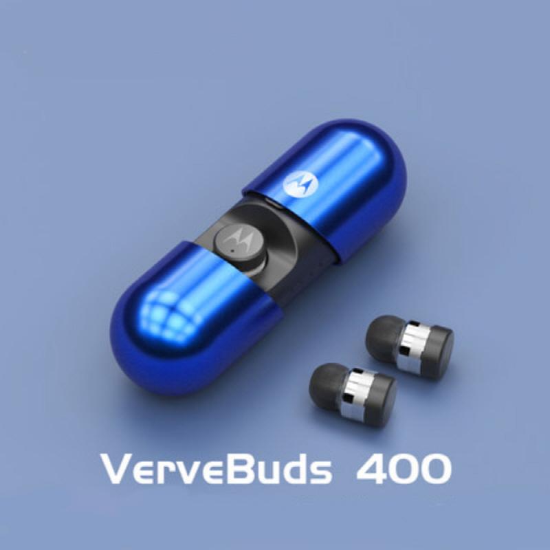모토로라 verve buds 400 인이어 방수 초소형 무선 블루투스 이어폰, 사파이어 블루