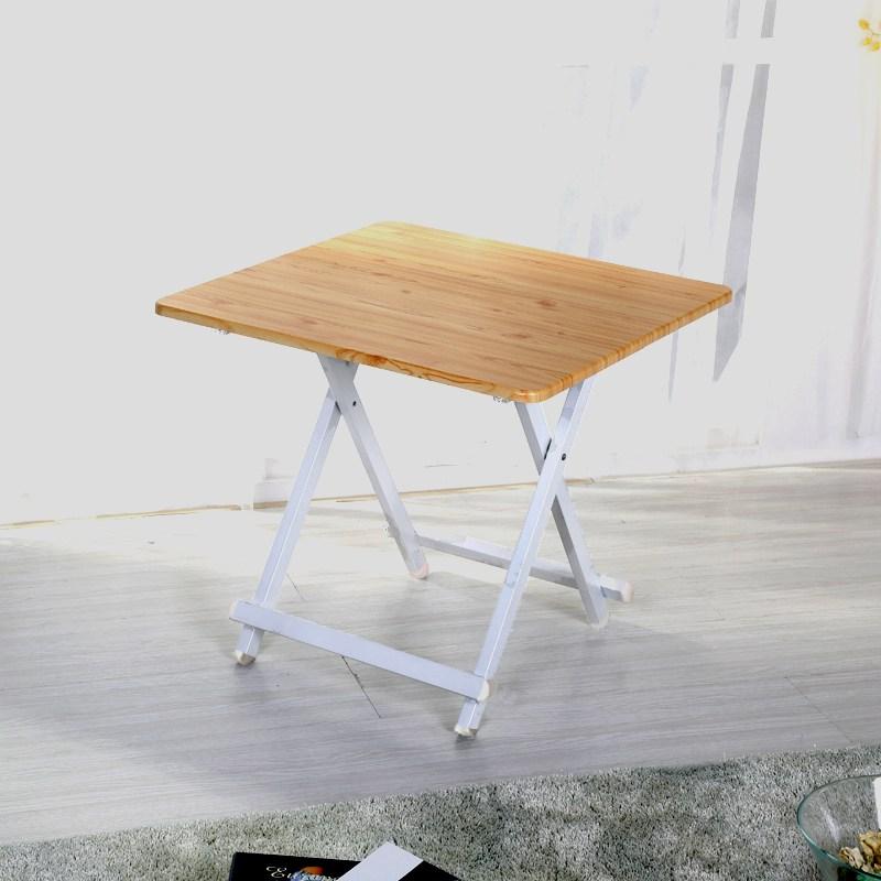4인용 접이식 확장형 이동식 김건모 식탁 고기집 포장마차 테이블, 60x60x55 (우드)