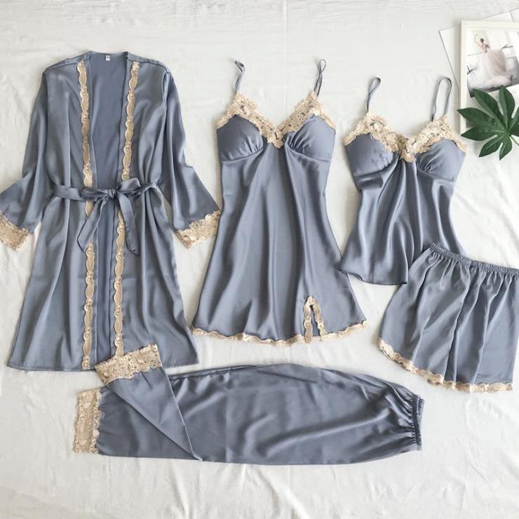 행사 1+2 (1개사면 2개더 발송) 로브가운 슬립 잠옷세트 5종 세트