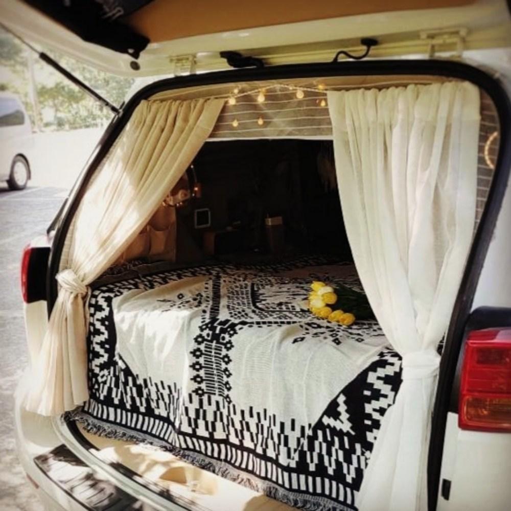 안녕우리집 차박 캠핑 야전 침대 텐트 감성 빈티지 에스닉 블랭킷 러그 카페트 담요 여름 이불 블랑캣 블랑켓 블랫킹 매트 쇼파 커버 덮개, 130*180
