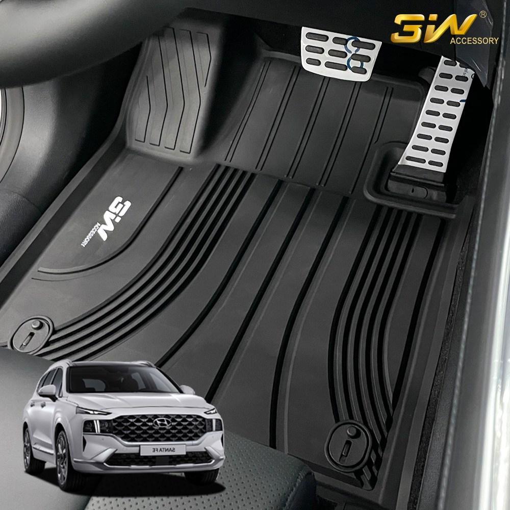 현대 더 뉴 싼타페 3W 에코라이너 TPE 카매트 카 차 발 매트 바닥 발판 깔판, 단품