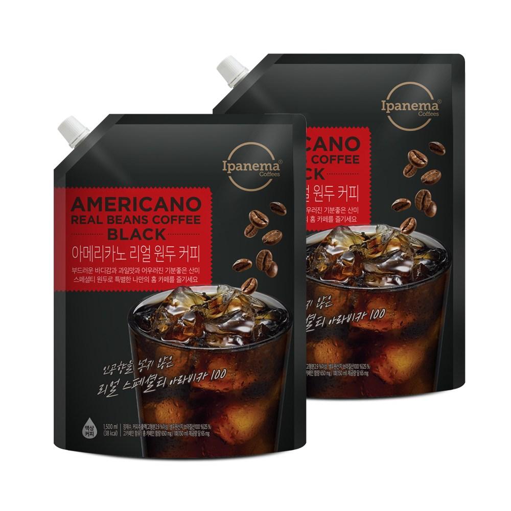 [자연이안] 스페셜티 커피 아메리카노 1.5L 2팩, 단품-15-4393602137
