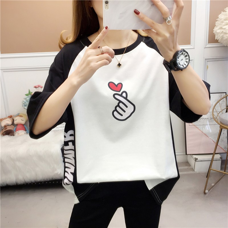 라우렌 하라쥬크 BF 무드 t셔츠 여성의류 여름 트렌드 티셔츠