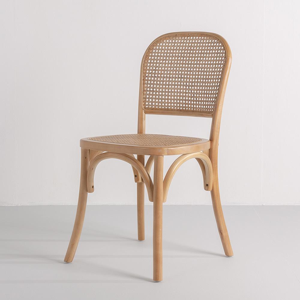 곡목라탄체어 라탄의자 카페 디자인 인테리어, 곡목라탄체어-월넛