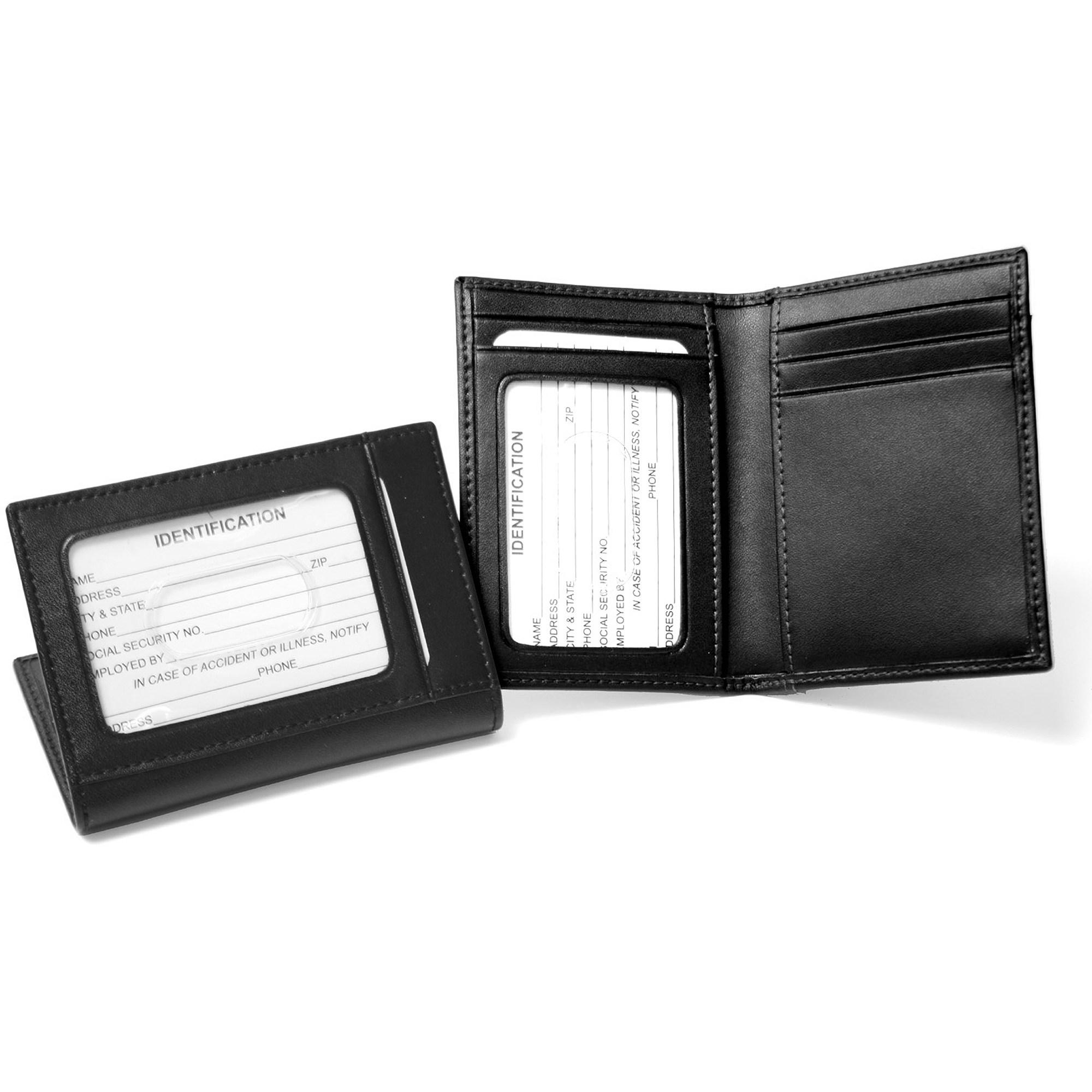 진짜 가죽 신분증 카드 케이스 지갑.