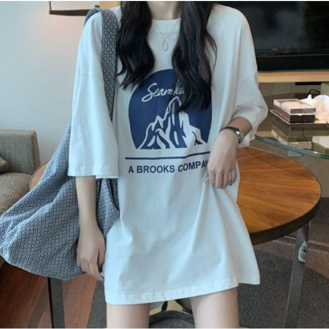 주디엘리 여성 브룩스 루즈핏 여름 반팔 티셔츠 1+1