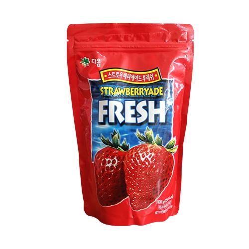 다음 딸기에이드 후레쉬 파우더 700g 에이드 분말, 1개