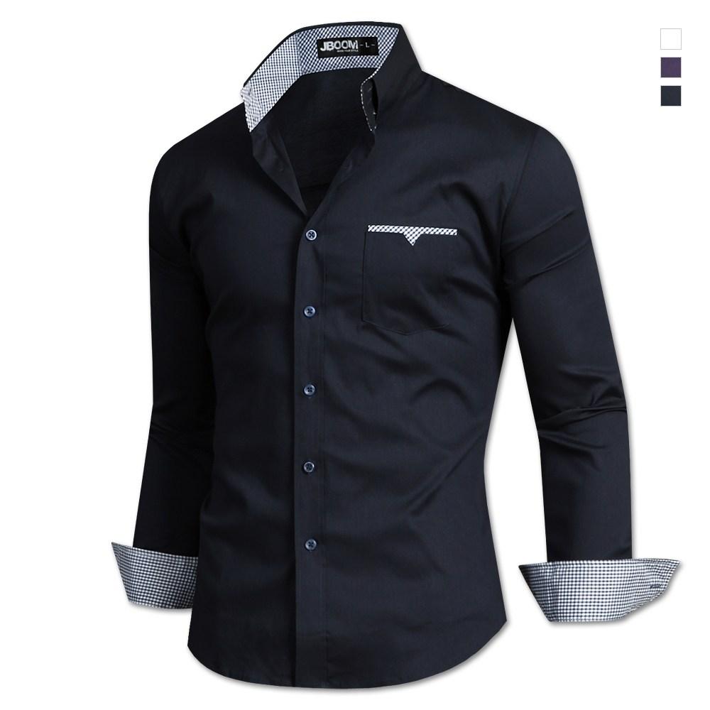 제이붐 남성용 3버튼포켓 면스판 긴팔셔츠 ST55