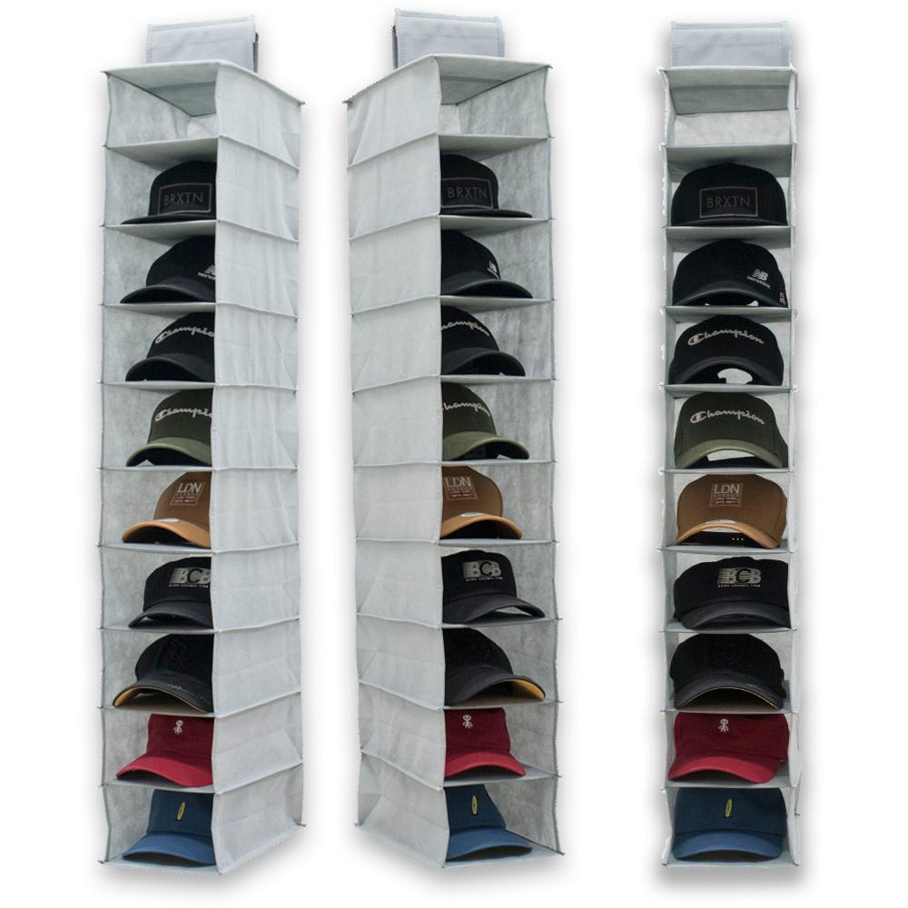 [고감성] 걸이형 모자 보관함 10단 소품 수납 정리함 3size, A-기본형