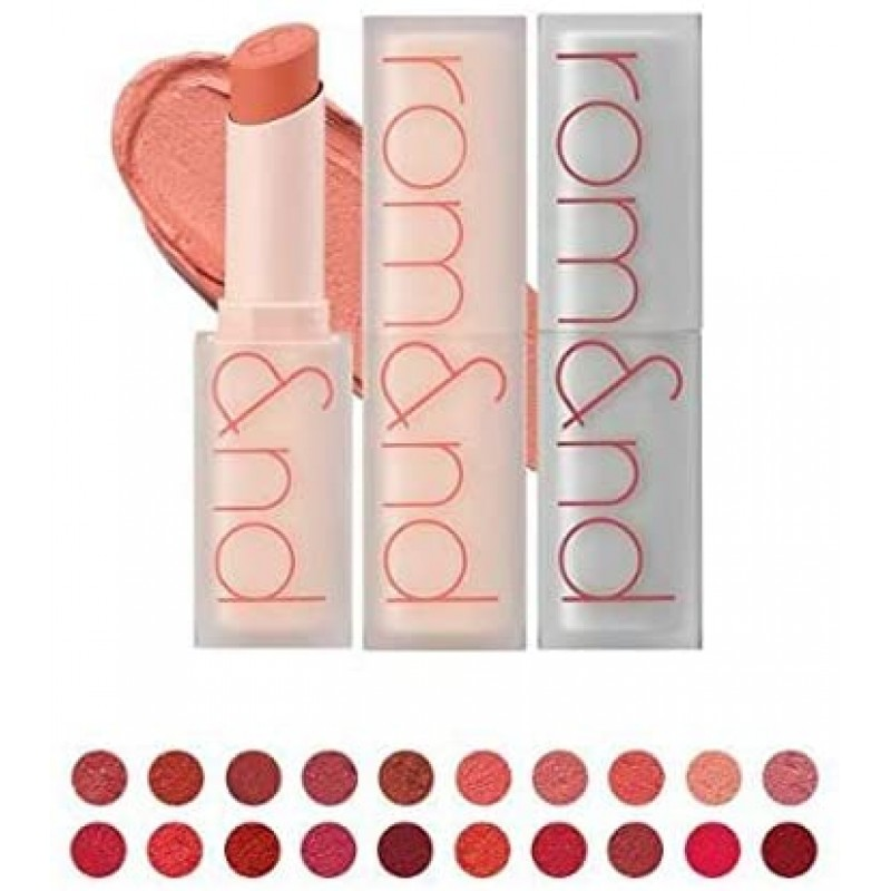 [Romand / 로무안도] 신상품 Zero Matte Lipstick / 제로 매트 립스틱 (20 색) 종이처럼 가벼운 0g의 색, 1, 단일상품