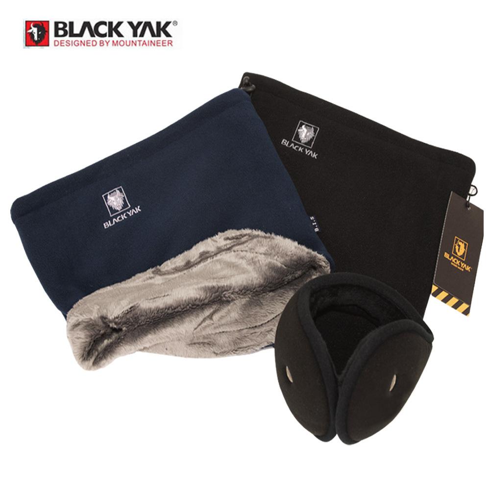 [블랙야크 넥워머 2+1세트] 블랙야크 네이비1+블랙1+블루안트귀마개1