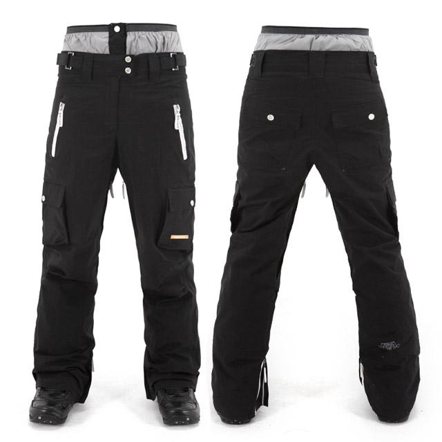 MLX 스노우 블랙 팬츠 남녀공용 보드복 스키복 바지 레귤러핏 스탠다드핏