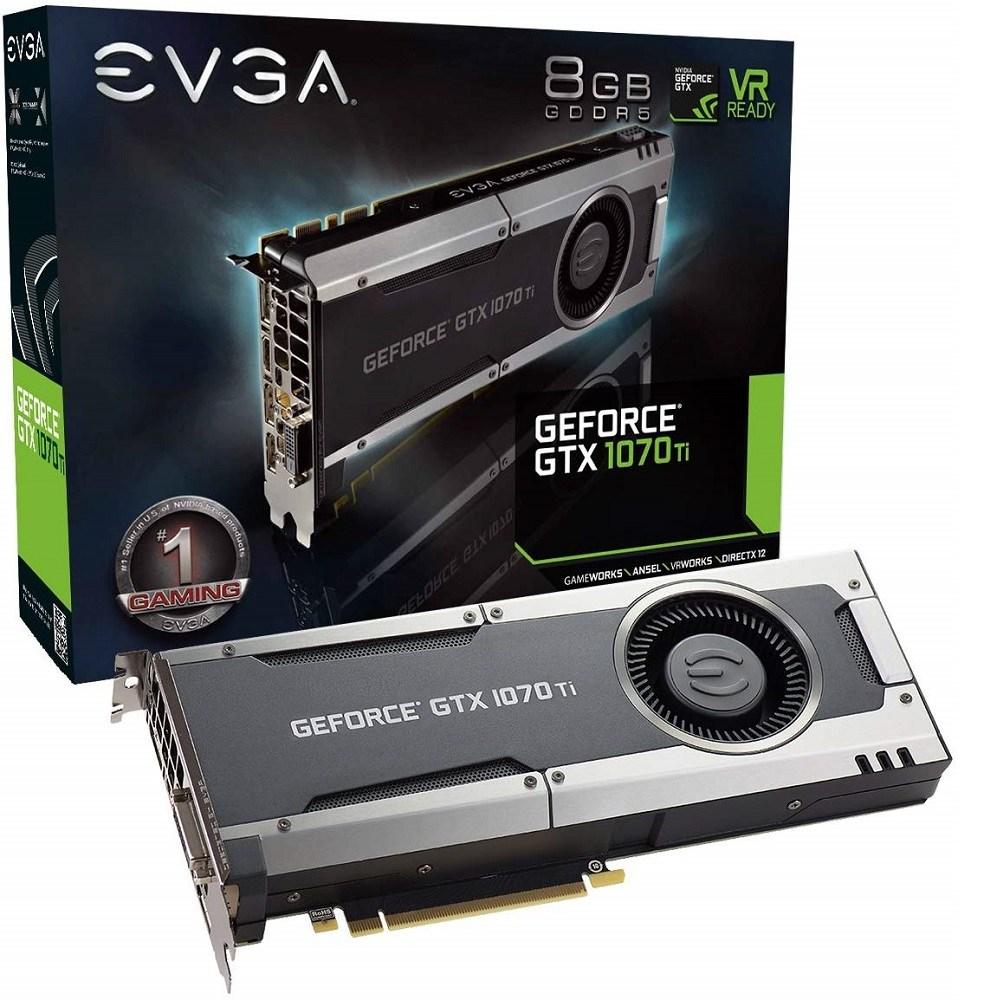 EVGA GeForce GTX 1070 Ti GAMING 8GB GDDR5 OCX Scanner OC (08G-P4-5670-KR) 그래픽카드, 08G-P4-5670-KR