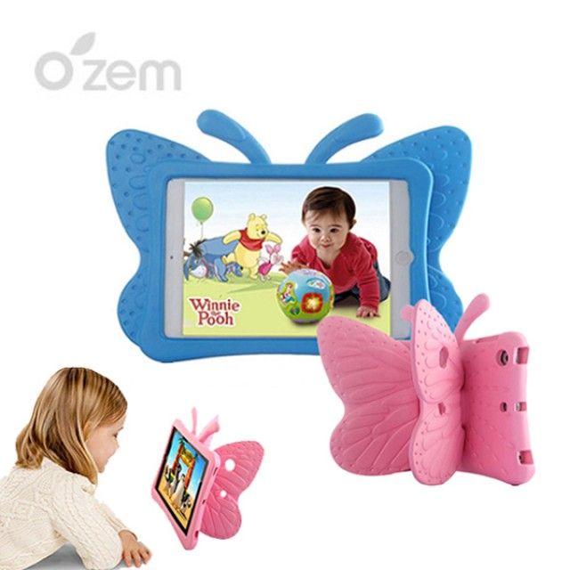 태블릿 아이패드미니케이스 아이패드미니2 아이패드미니3 어린이안전 아이패드캐릭터케이스 오젬 에바폼케이스 아이패드미니4 아이패드미니1.2.3.4, 1, 아이패드미니1.2.3.4 나비 에바폼케이스_핑크