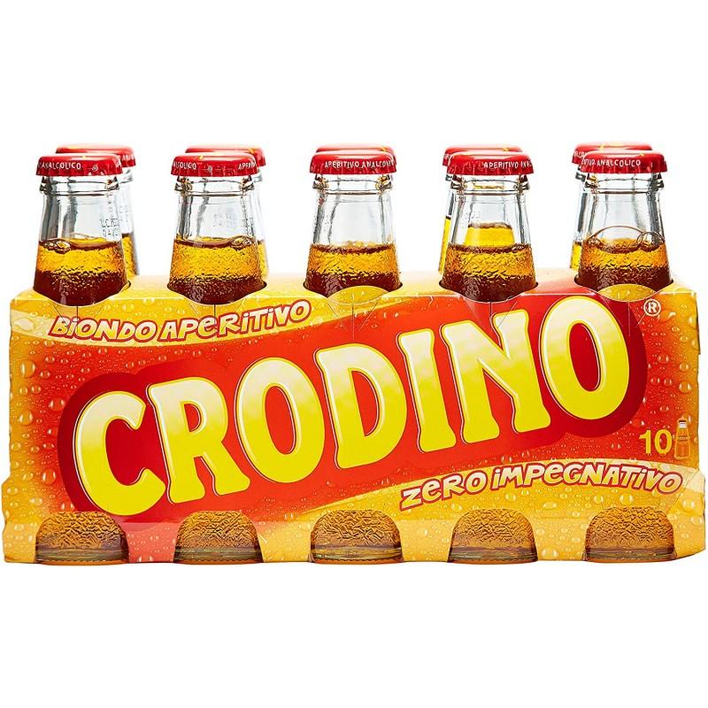 Crodino : 1964 년부터 생산 된 비 알코올성 쓴 아페리티프-10 x 100ml, 1