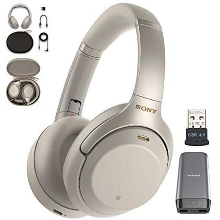 헤드셋 Sony WH-1000XM3 Wireless Noise Canceling Over Ear Headphone with Voice Assistant Silver (WH, 상세 설명 참조0