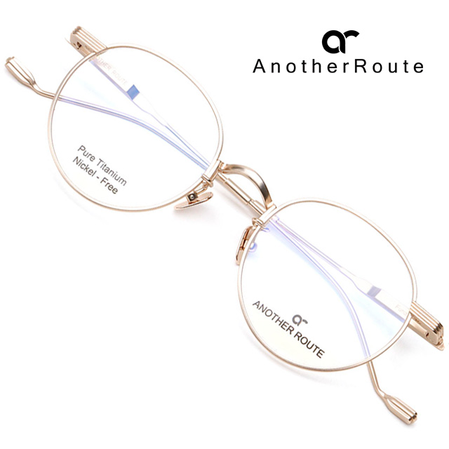 어나더루트 티타늄 안경테 FURIAN-C01 초경량 가벼운 동글이안경