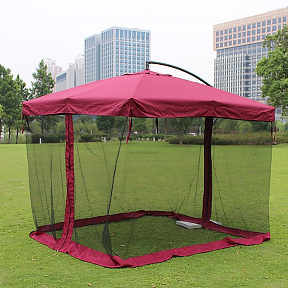 소형 카라반 카니발 차박 텐트 파라솔 모기장, 브라운