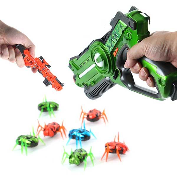 배틀버그건 메가 콤보세트 서바이벌건 게임총 적외선 슈팅건 너프건, 배틀버그건(대)/화이트+버그건(미니)+버그3개
