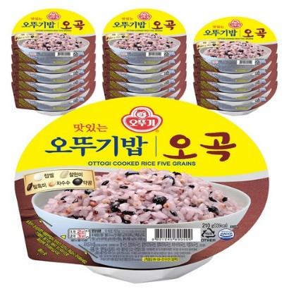 맛있는 오뚜기밥 오곡, 210g, 54개