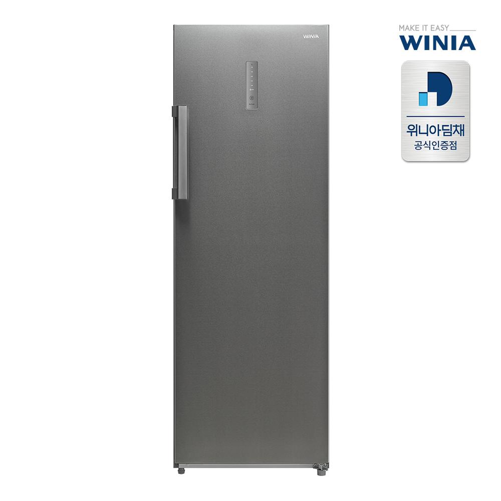 위니아딤채 WFZU230NAS 스탠드형 냉동고 1도어 227L 브라이트실버