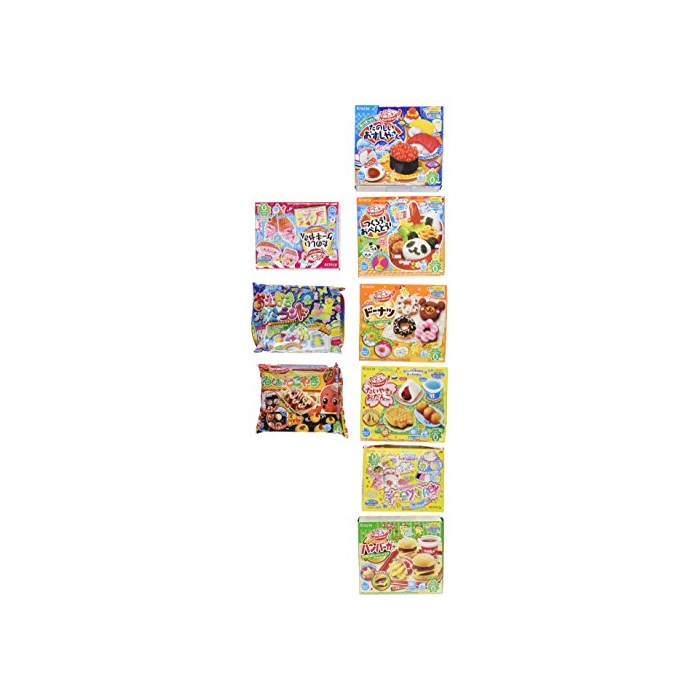 Kracie Popin Cookin 9 Item Bundle with Sushi Hamburger Bento Takoyaki Cake Shop and More, One Color, One Size